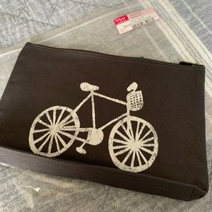 New Thirty-One Zipper Pouch Bicycle